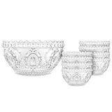 Baci Milano Baroque & Rock Acrylic Fruit Bowls - Set of 6
