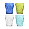 Baci Milano Baroque & Rock Colored Acrylic Water Glasses - Set of 4