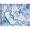 Blue Marble Rectangular Melamine Serving Tray