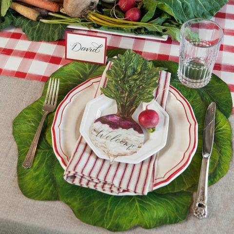 Paper Placemats Cabbage - 12 Sheets