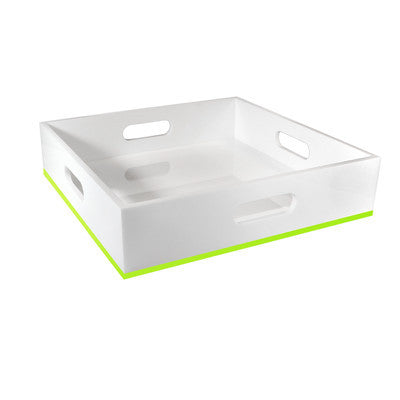 Portofino Square Tray - Impulse - Miami Home Decor -  Green