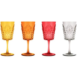 Baci Milano Baroque & Rock Colored Acrylic Wine Glass Set - Set of 4
