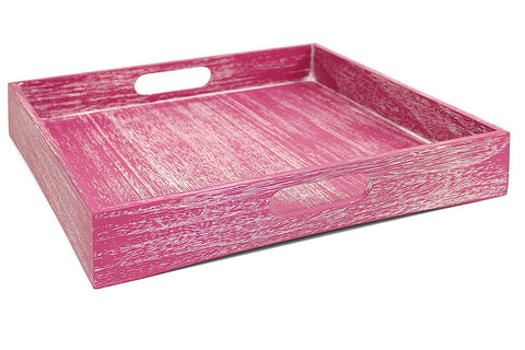 Drift Solid Wood Tray - Swing Design - Miami Home Decor - pink