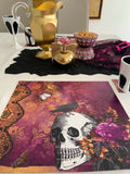 Paper Placemats Halloween Fancy Skull & Coasters Set of 12