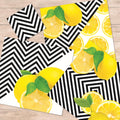 Lemons & Lines Paper Placemats & Coasters - Set of 12