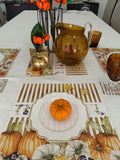 Thanksgiving Paper Placemats & Coasters - Set of 12