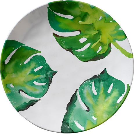Monstera Leaf Melamine Dinner Plates - Set of 6