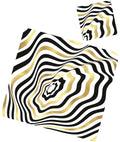 Op art paper placemats and coasters set of 12