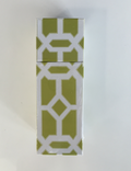 Square Matchbox Lattice - Pomegranate Miami Home Decor - green