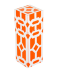 Square Matchbox Lattice - Pomegranate Miami Home Decor - orange