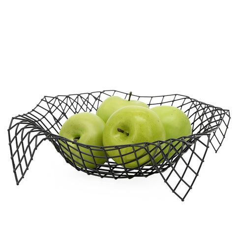 Matrix Metal Fruit basket Black