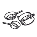 Hot Sketches Trivets set of 2