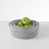 Lace Crochet Rigid Nested Round Storage Trays S/3 pc2