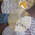 VL AU Round Placemats Gold/Silver