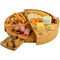 Round Bamboo Cheese Board Set