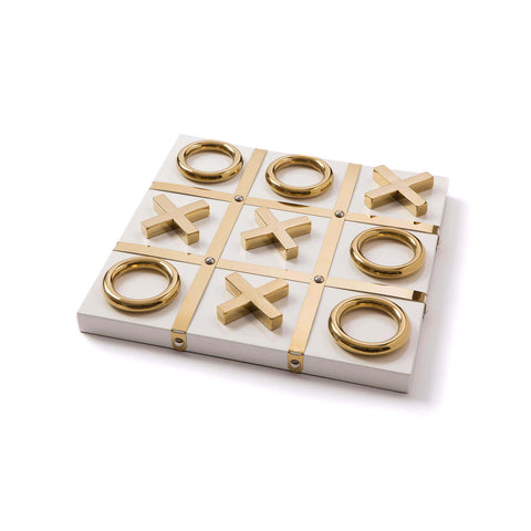Tic Tac Toe White and Gold