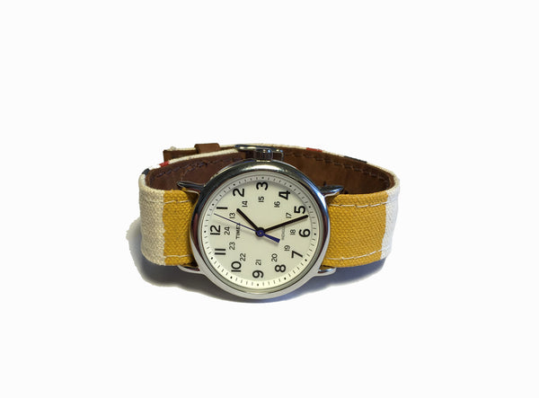 Canvas (Red/Blue/Yellow) x Timex Weekender