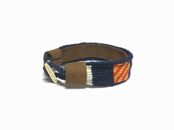 Nautical Flag Needlepoint Bracelet
