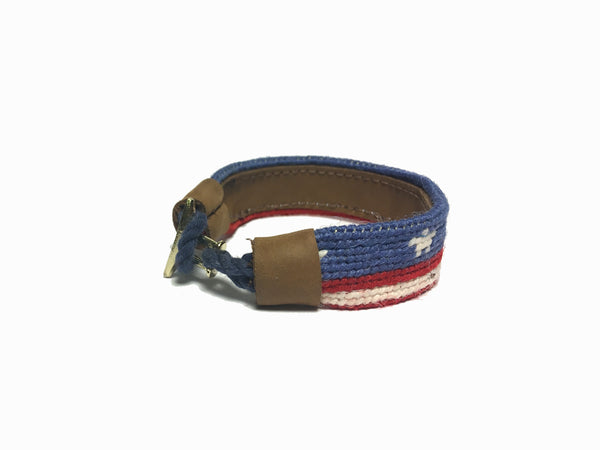 USA Needlepoint Bracelet