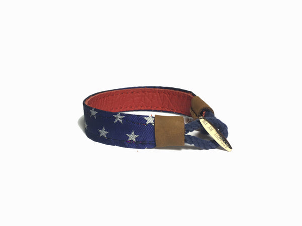 USA Red Leather Bracelet