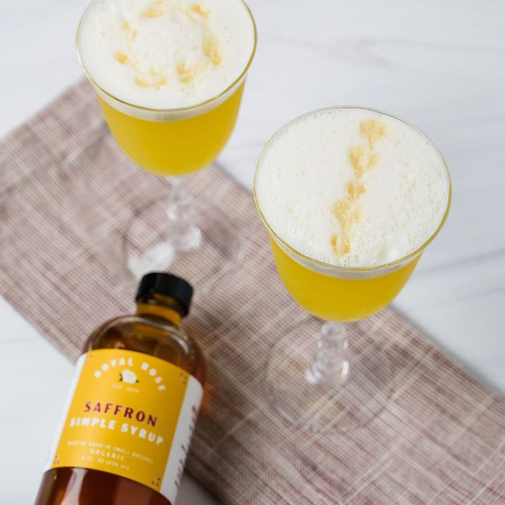 Saffron Pisco Sour