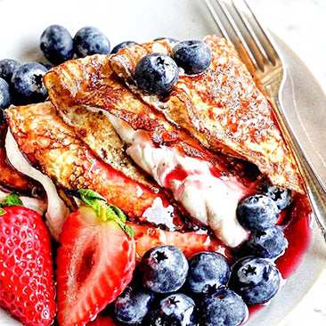Crêpes with Whipped Ricotta Cream & Berries
