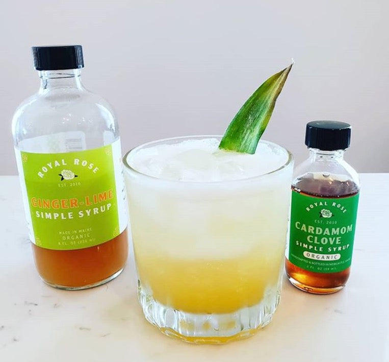 Tropic Like its Hot Recipe. Ginger Lime Syrup and Cardamom Clove Syrup