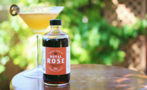Royal Rose Three Chile Syrup showcased in a cocktail.