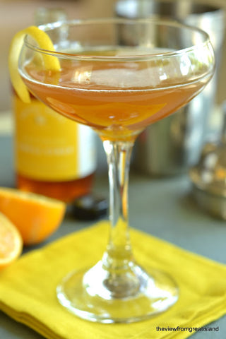 Saffron Syrup showcased in a cocktail by Royal Rose Syrups