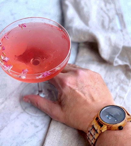 Timely Martini with Rose Royal Rose Syrup