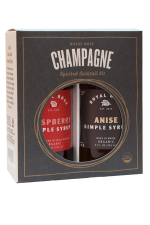 Champagne Cocktail Kit w/ Anise and Raspberry Organic Simple Syrups