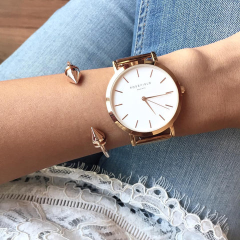 Rose Gold Arrow Bangle