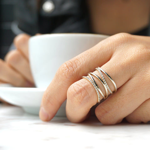 Faux Stacked Silver Ring