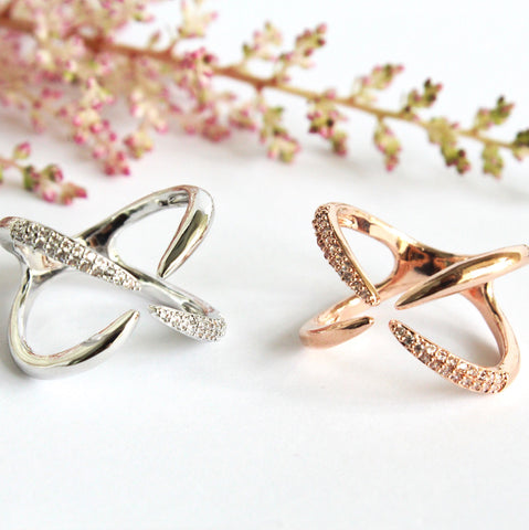Criss Cross Rose Gold Ring