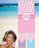 Ballet Monogram Beach Towels