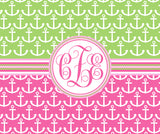 Anchor & Sail  Monogram Fleece Blankets