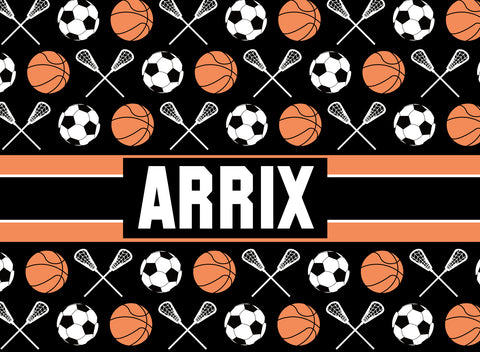 Multi-Sport:  Basketball, Lacrosse, Soccer Fleece Blanket