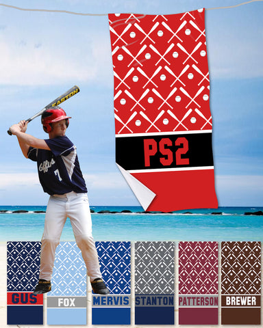 Baseball Beach Towels
