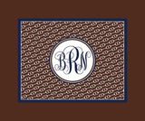 Horseback Riding Monogram Fleece Blankets