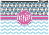 Volleyball Monogram Zipper Pouch