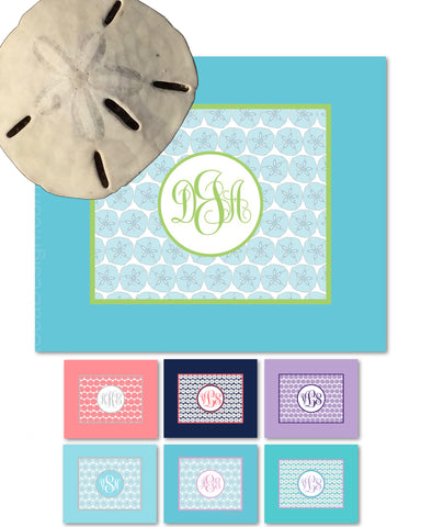 Sand Dollar Monogram Fleece Blankets