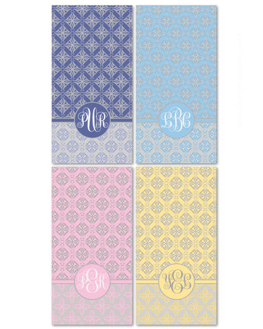 Damask Monogram Beach Towel