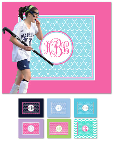 Field Hockey Monogram Blankets