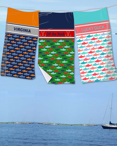 Fishing Beach Towel (Note:  All Beach Towels on backorder until October)