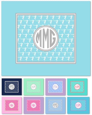 Gymnastics Monogram Fleece Blanket