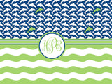 Dolphin Monogram Fleece Blanket