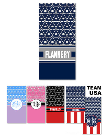 Ice Hockey Beach Towels