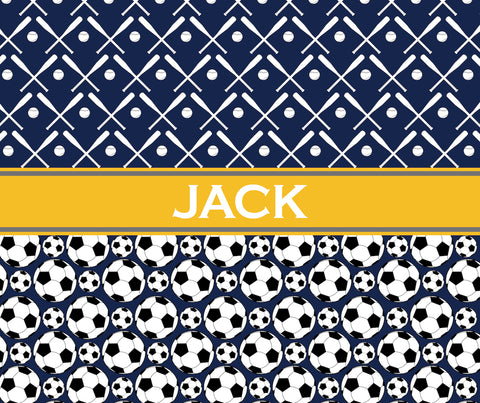 Multi-Sport:  Baseball & Soccer Fleece Blanket