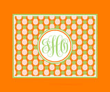 Pineapple Monogram Fleece Blankets