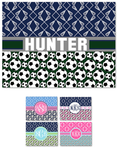 Multi-Sport:  Lacrosse & Soccer Fleece Blanket